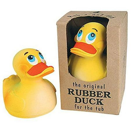 Rich Frog Sitting Rubber Duck Children's Bath Toy, Yellow - 4