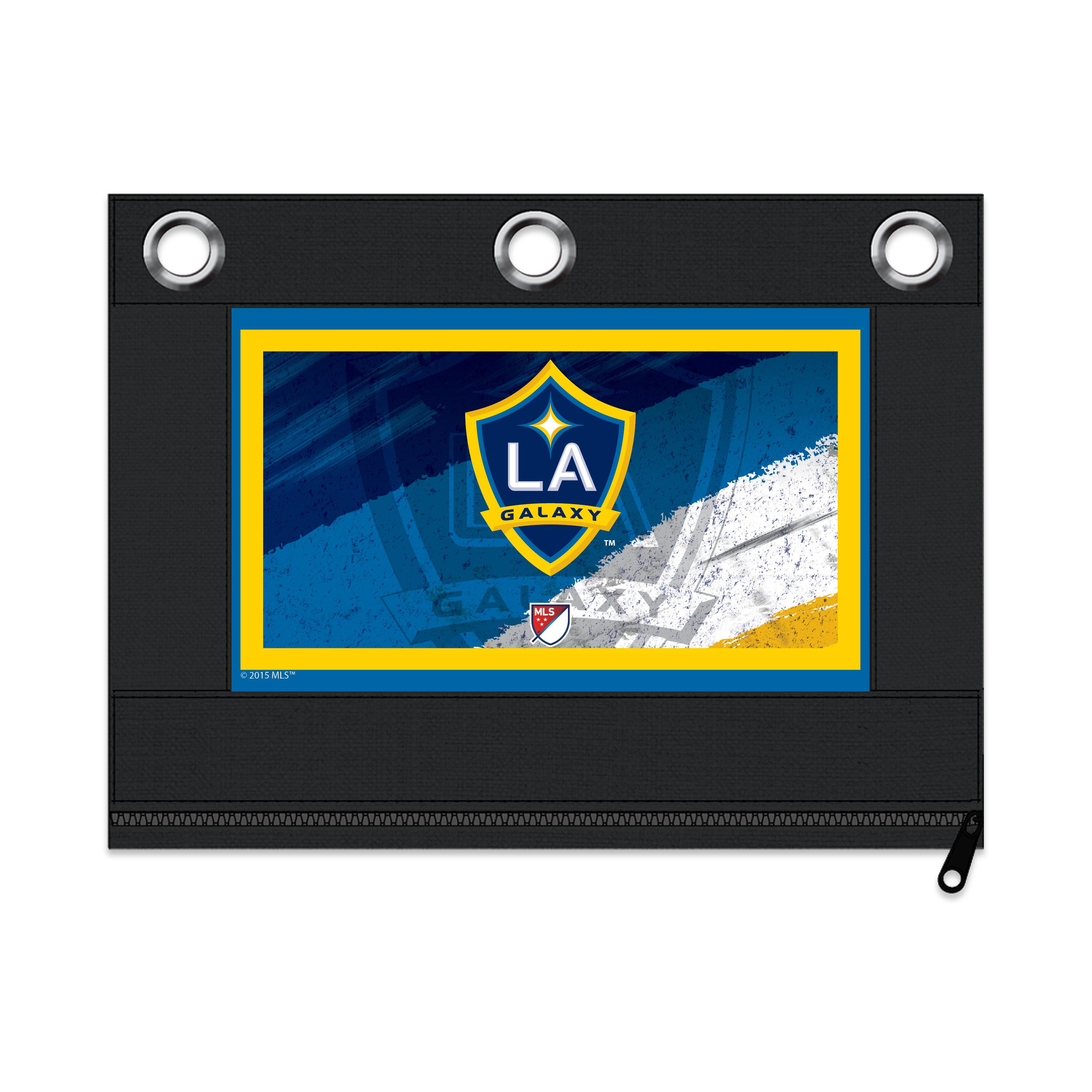 MLS Los Angeles Galaxy Zippered Pencil Pouch with Grommets