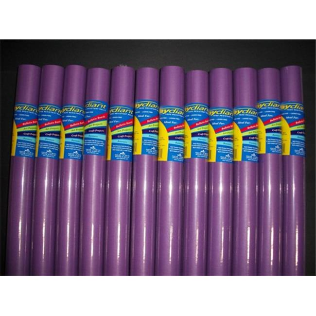 RiteCo Raydiant 80051 Riteco Raydiant Fade Resistant Art Rolls Purple 24 In. X 12 Ft. 12 Pack
