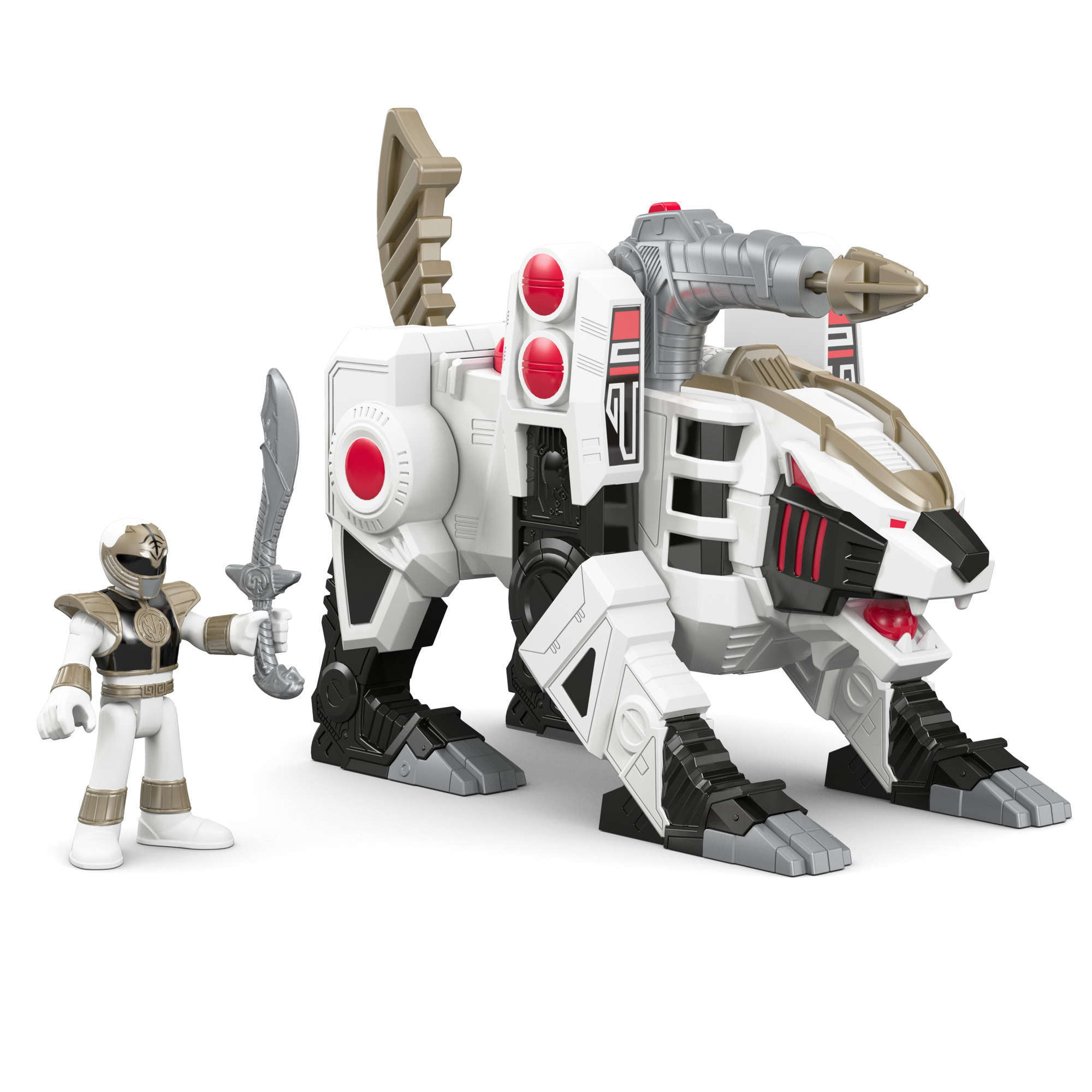 IMaginext Power Rangers White Ranger and Tiger Zord by FISHER PRICE