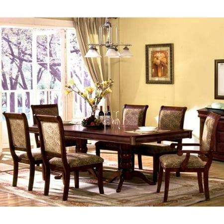 cherry dining room set. Furniture of America Ravena Oak 7 piece Cherry Dinette Set