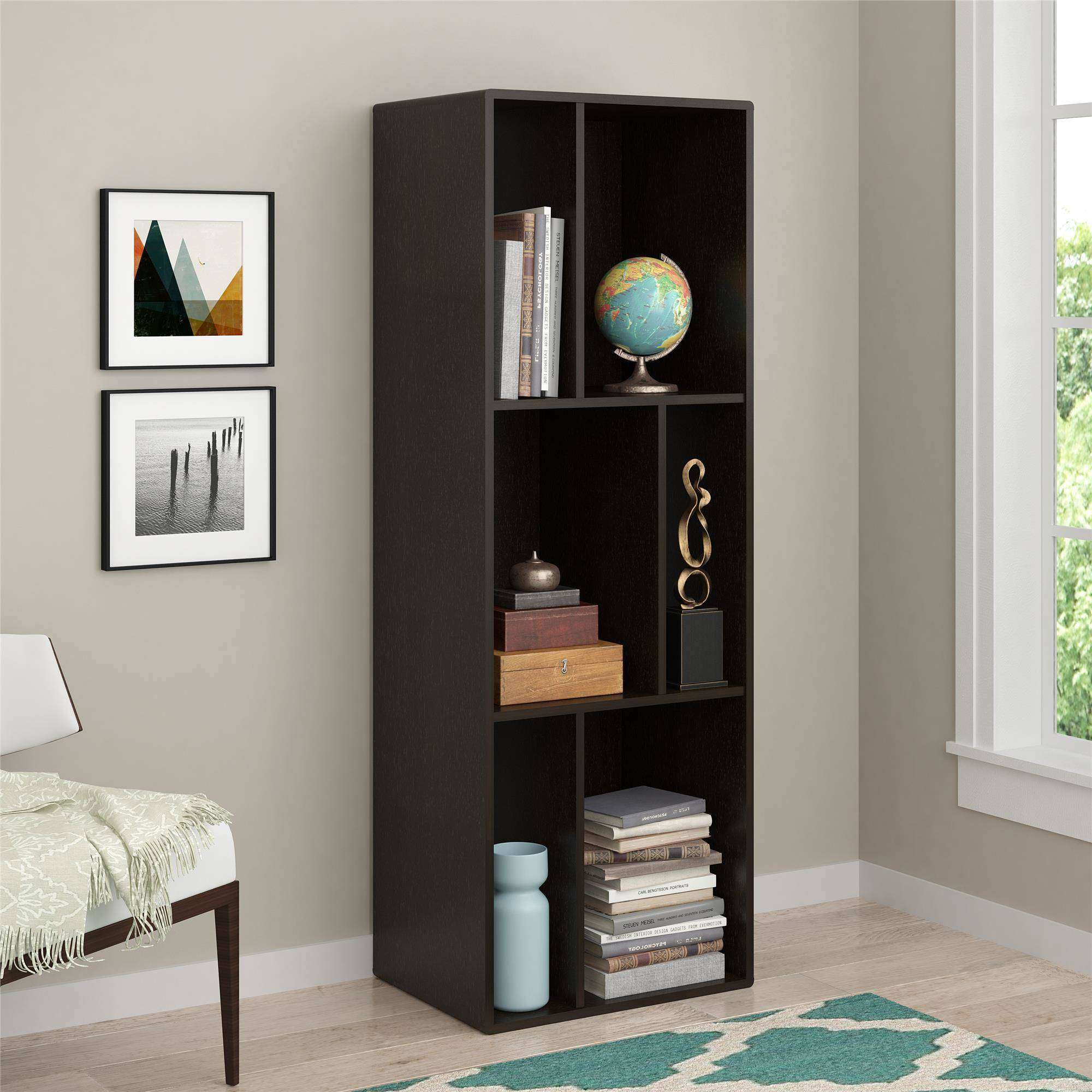 belham stand bookcase kitchen dining oak black with tv amazon bookcases hampton dp com living