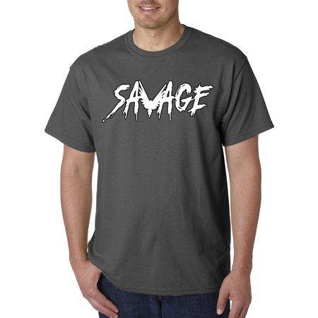 497f135794d48 New Way - New Way 788 - Unisex T-Shirt Savage Maverick Logang Logan Paul  4XL Charcoal - Walmart.com