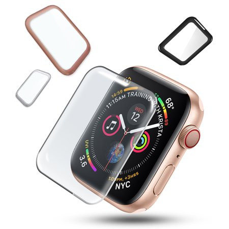 For Apple Watch Series 4 [40mm] Full Screen Protector,iClover [Anti-Scratch] Tempered Glass Cover with High Definition & 3D Curved Edge Screen Protector