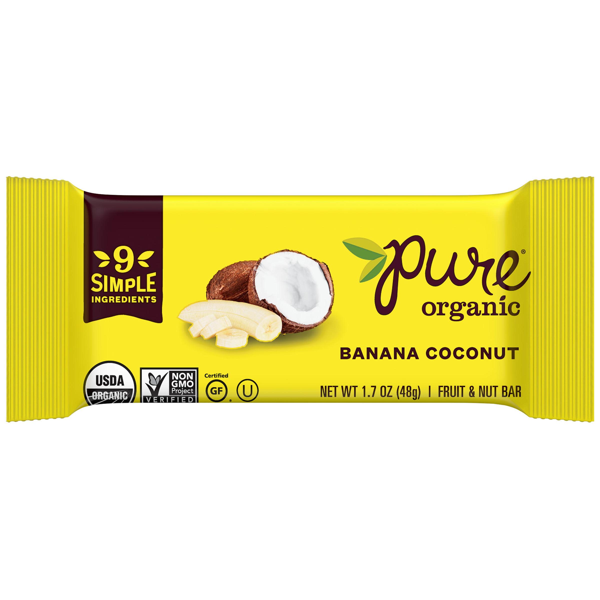 Pure® Organic Banana Coconut Fruit & Nut Bar 1.7 oz. Wrapper