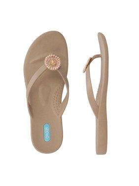 Oka-B Faith Flip Flops, Chai - Size 6M