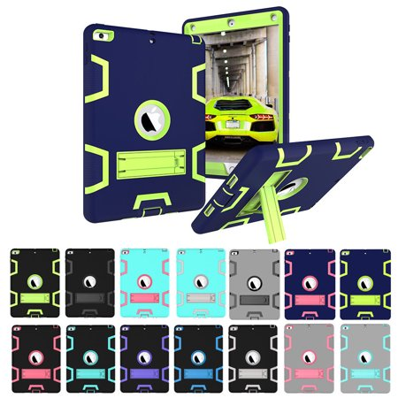 For New iPad 9.7 Inch 2018 / 2017 5th Gen Shockproof Heavy Duty Rubber Hard Stand Case Cover