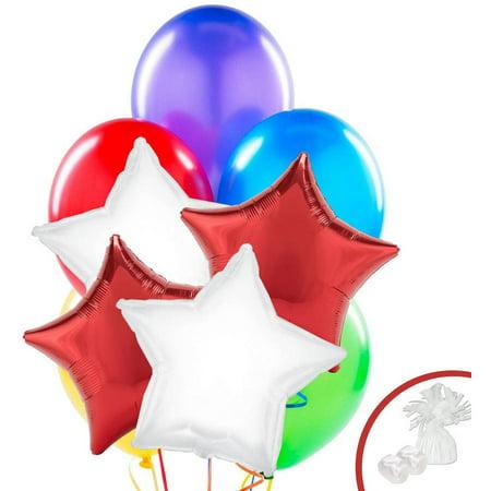 Reindeer Christmas Party Balloon Bouquet](Reindeer Balloons)
