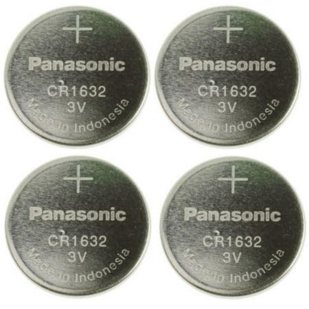 Panasonic CR1632 3V Lithium Coin Battery (Pack of 4)