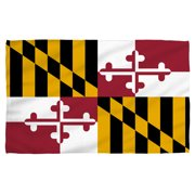 Maryland Flag Golf Towel W Grommet White 16X24