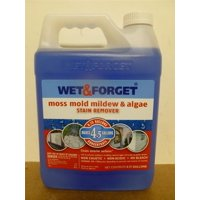 800003 Moss Mold Mildew & Algae Stain Remover, Wet and Forget Moss Mold Mildew & Algae Stain Remover Net 0.75 gal (MAKES 4.5 GALLONS) ONE BOTTLE By Wet and Forget