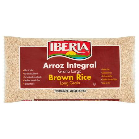 (3 Pack) Iberia Long Grain Brown Rice, 5 lb