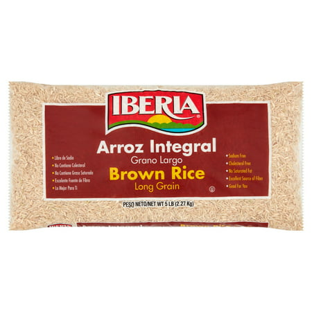 5 Lb Package - (3 Pack) Iberia Long Grain Brown Rice, 5 lb