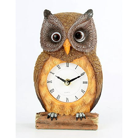 Owl Clock with Moving Eyes -