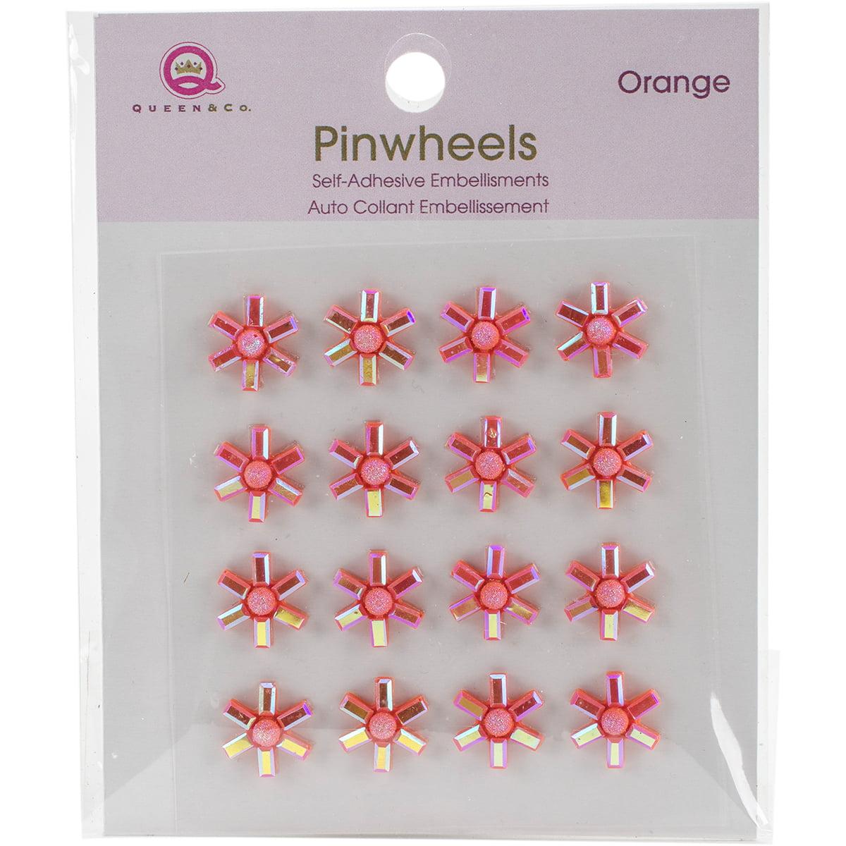 Queen & Co PW10-88 Pinwheels 16/Pkg - Orange