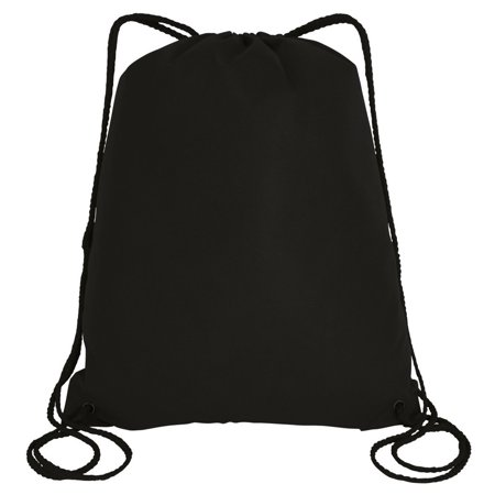 5fca1b39e58e Large Drawstring Backpack Gym Sack Bag Foldable Cinch Bag Sport, Travel  Shopping (50, Black)