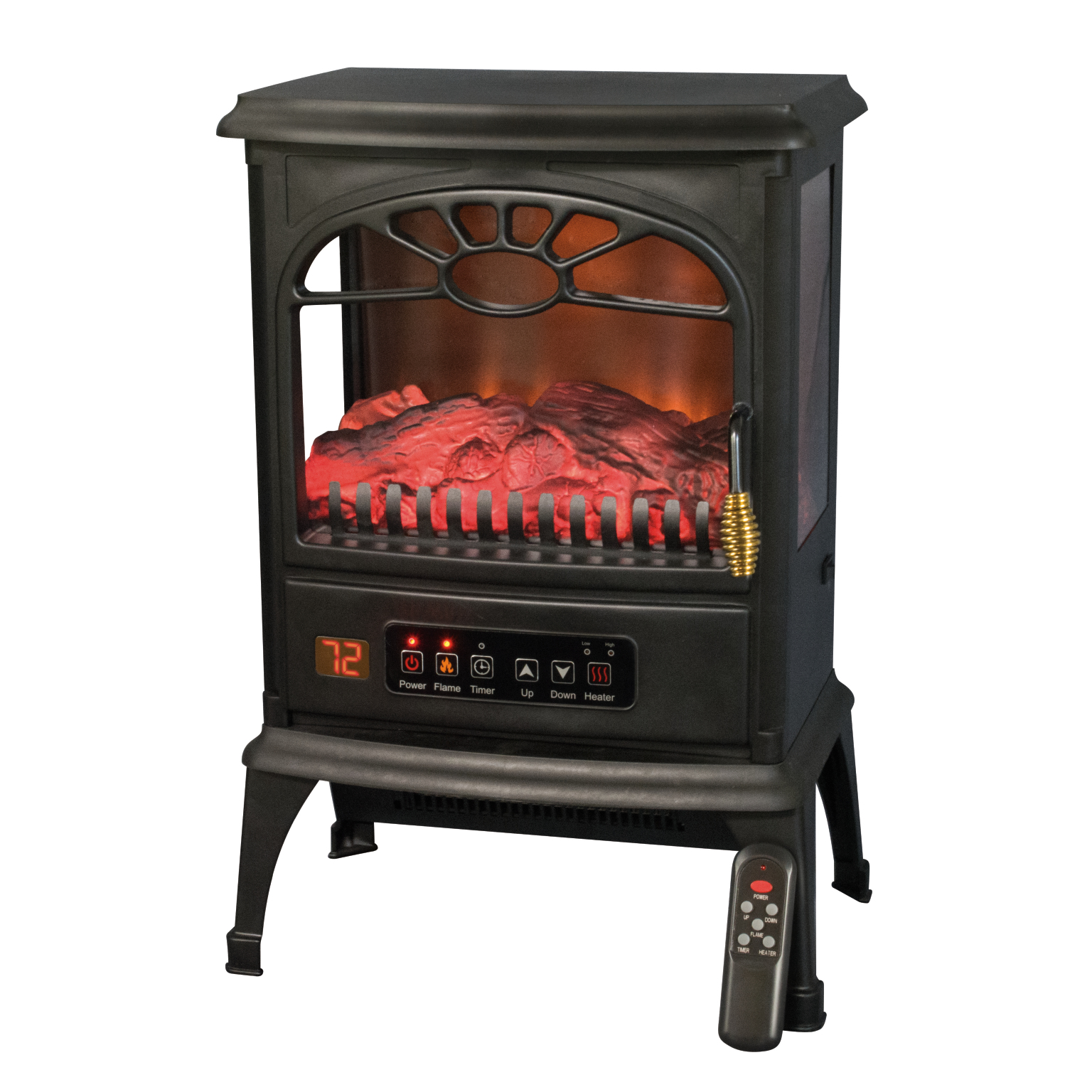 Warm Living Infrared Three-Sided Heater Stove With Remote