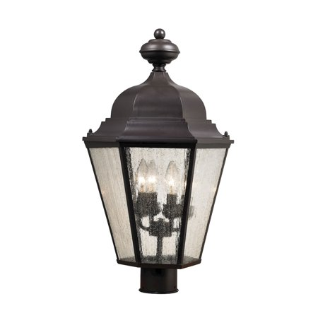 Cotswold 4 Light Exterior Post Lamp In Oil Rubbed Bronze - image 1 de 1