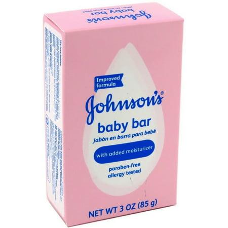 JOHNSON'S Baby Bath Bar Soap 3 oz (3 Bath Bar)