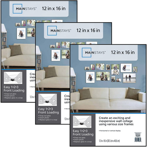 Click here to buy Mainstays 12x16 Format Picture Frame, Set of 3 by MCS.