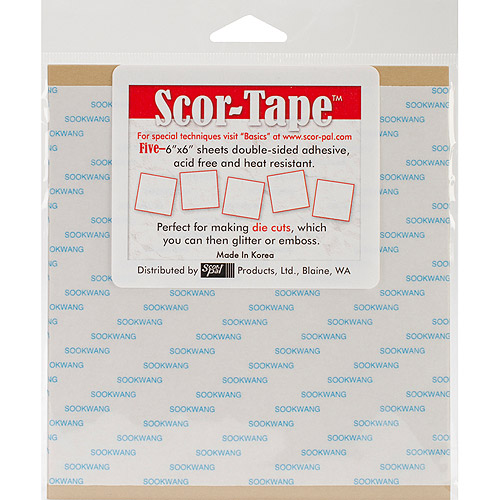 "Scor-Tape Sheets, 5/Pkg, 6"" x 6"""