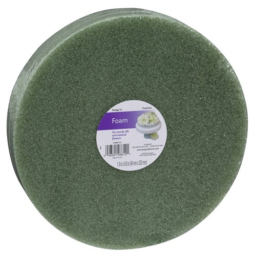 "Design It FloraCraft Disc 10"" x 2"" Styrofoam, Green"