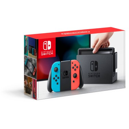 Nintendo Switch Gaming Console Neon Blue And Neon Red Joy Con