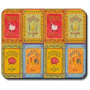 Art Plates Mouse Pad - Bistro Signs