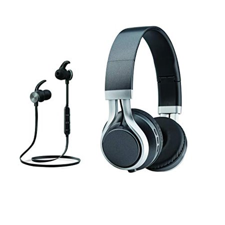 Headphone & Earbud Combo Set, Combo Set Bluetooth Wireless Handsfree Headset in-Ear & Over The Ear 2-in-1 Deal, Built-in Mic Calling, HD Sound Combination Pack, Birthday Gift Present