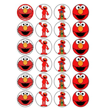 Elmo Edible Frosting Image Cupcake Toppers 24ct * - Frosting Cupcakes For Halloween