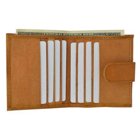 Ladies Genuine Leather Mini Wallet Bifold Snap Enclosure 521 CF