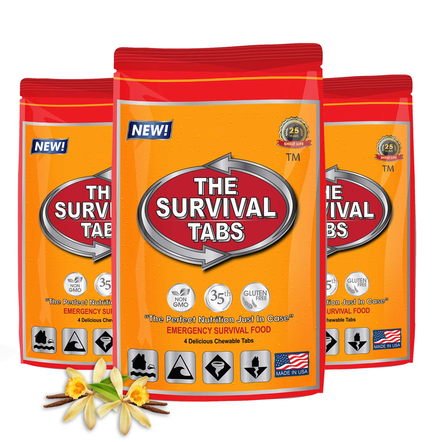 Click here to buy Survival Tabs 1 Day 12 Tabs Emergency Food Survival MREs Meal Replacement for Disaster Preparedness Gluten Free and Non-GMO 25 Years Shelf....