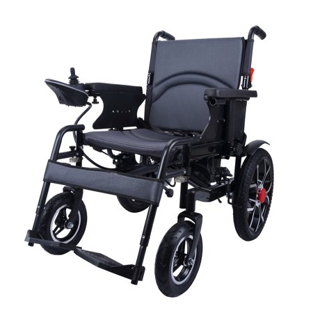City Hopper Electric Wheelchair with 16-inch Rear Wheels, 500W Motor, 24V–12AH Battery, Easily Foldable, Joystick Controlled, Powered Mobility