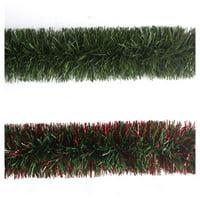 100809-66CC Tinsel Garland, Pine Green, 9-Ft. - Quantity 1