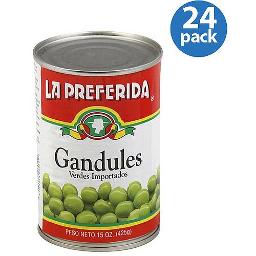 La Preferida Pigeon Peas, 15 oz, (Pack of 24)