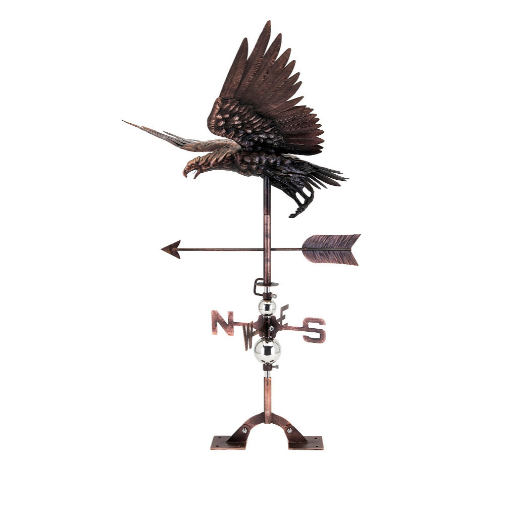 Rooftop Stuart Eagle Weathervane Copper- Benzara by Weathervanes
