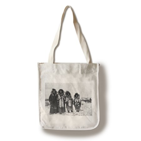 Eskimo Women In Alaska Photograph (100% Cotton Tote Bag - Reusable) - Pretty Eskimo Women