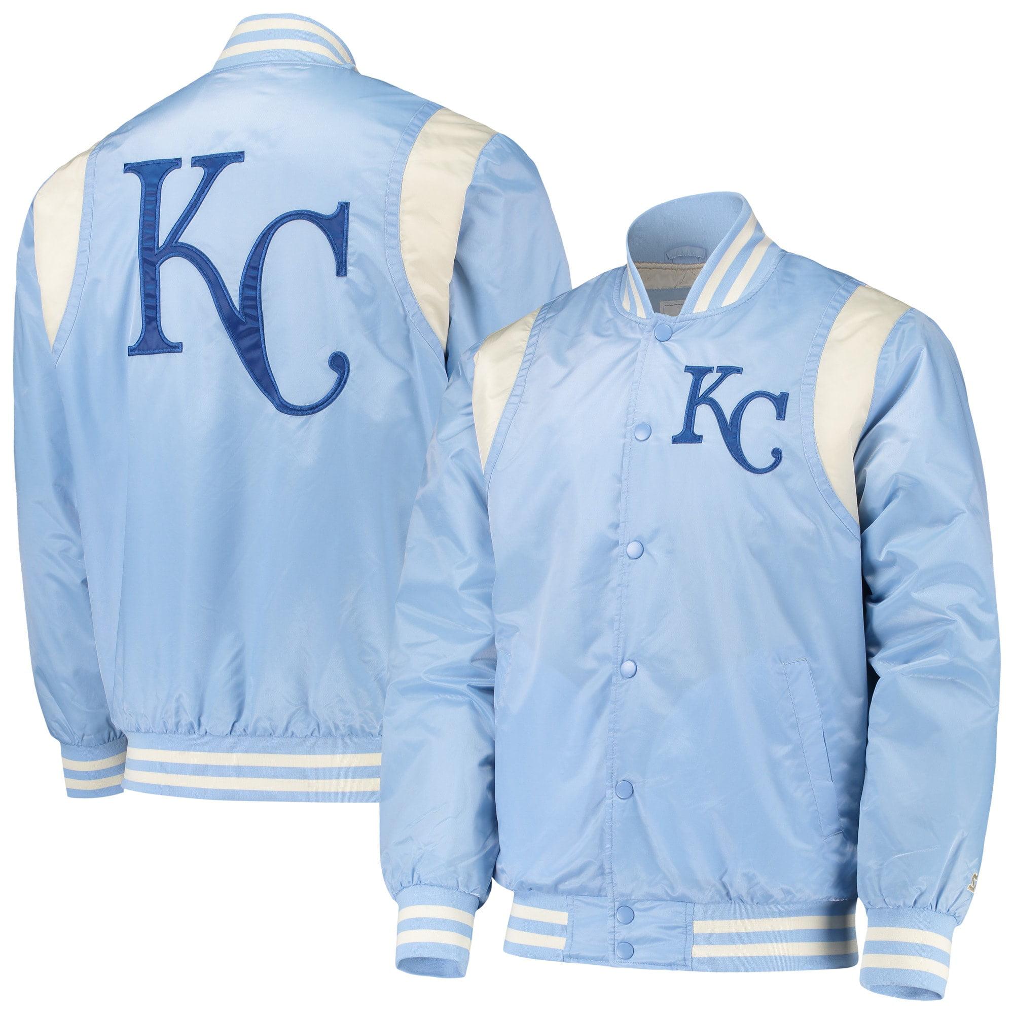 Kansas City Royals Starter Vintage Varsity Satin Full Snap
