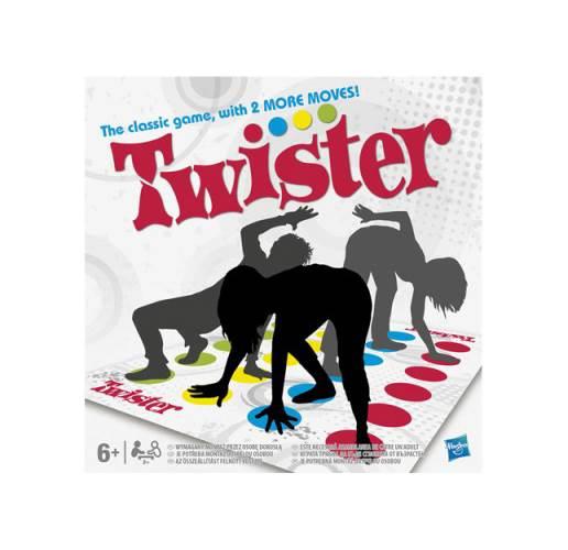 Twister Board Game w Colored Mat - Milton Bradley