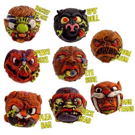 "Madballs 2"" Mini Squirter set of 8: Deck Hand, Eye Sore, Fang Thang, and More - image 1 of 1"