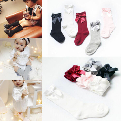 Kids Girls Warm Sock Tights Knee High Sock Baby Boys Toddler Dress Dance Socking