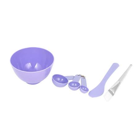 Unique Bargains Homemade 6 in1 Makeup DIY Facial Mask Bowl Brush Spoon Stick Cosmetic Tool - Make Homemade Halloween Makeup