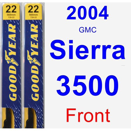 2004 GMC Sierra 3500 Wiper Blade Set/Kit (Front) (2 Blades) -