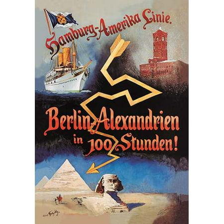 Berlin to Alexandria in 100 Hours on the Hamburg-Amerika Cruise Line Fine art canvas print (20