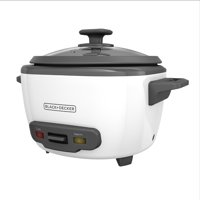 BLACK+DECKER 14-Cup Cooked/7-Cup Uncooked Rice Cooker and Food Steamer, White, RC514