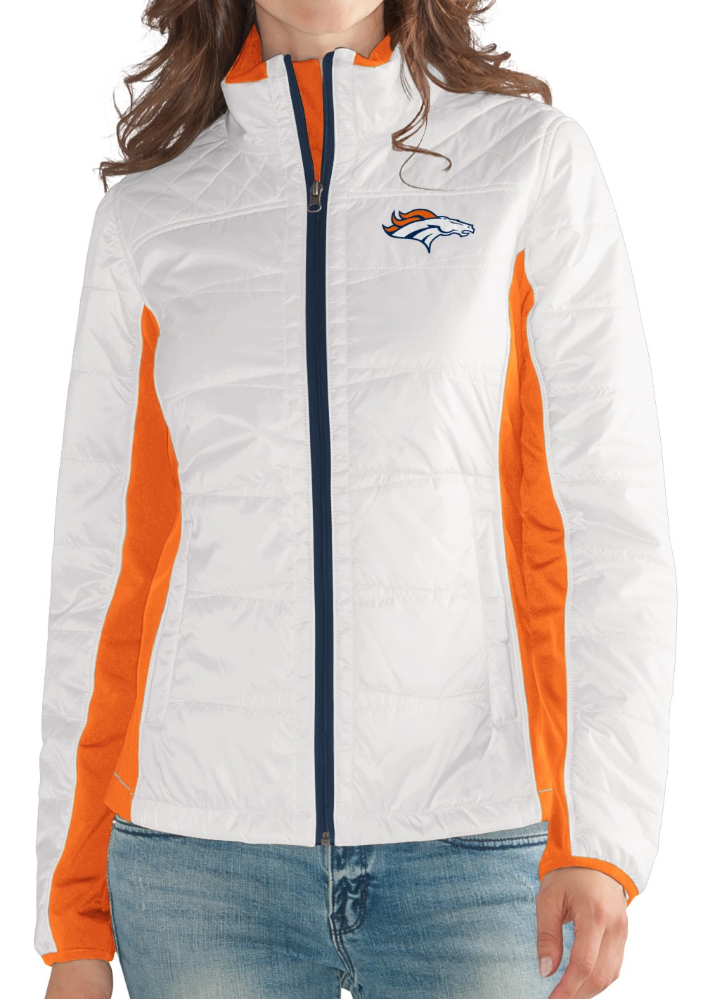 "Denver Broncos Women's NFL G-III ""Fullback"" Full Zip Quilted Jacket by G-III Sports"