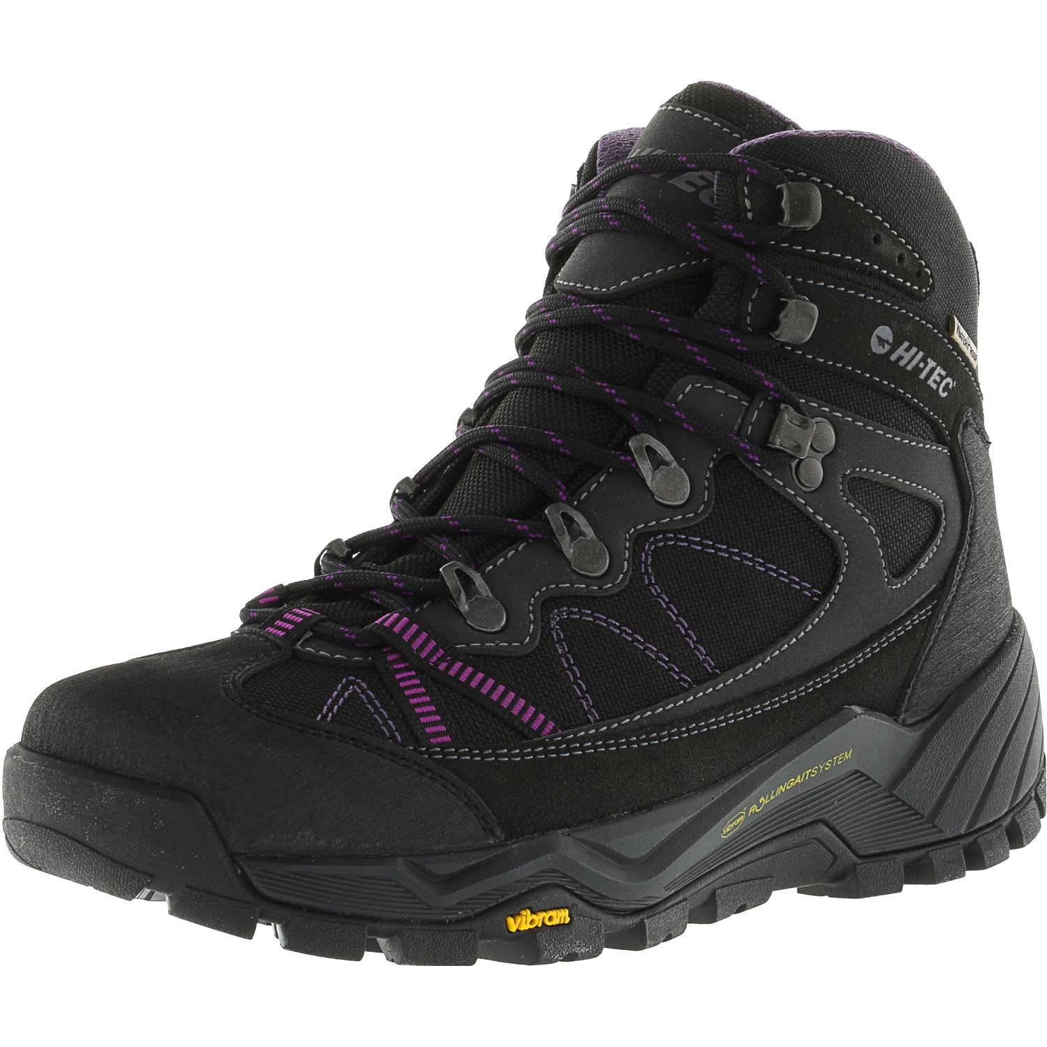 Hi-Tec Women's V-Lite Altitude Pro Lite Rgs Waterproof Charcoal   Orchid Ankle-High Fabric Boot 9.5M by Hi-Tec