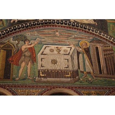 Canvas Print Art Mosaic Religion Ravenna Church Italy Stretched Canvas 10 x