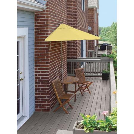 Cc Home Furnishings Oval Wood Yellow Patio Set