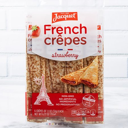 Ready to Eat French Crepes by Jacquet - Filled - Strawberry (6.77 (Best Crepes In France)